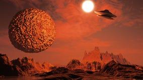 τρισδιάστατη σκηνή επιστημονικής φαντασίας Στοκ Εικόνες