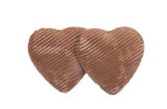 τρισδιάστατη σοκολάτας απεικόνιση καρδιών σχεδίου γραφική που δίνεται Στοκ Εικόνες