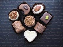 τρισδιάστατη σοκολάτας απεικόνιση καρδιών σχεδίου γραφική που δίνεται Στοκ φωτογραφία με δικαίωμα ελεύθερης χρήσης
