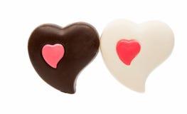 τρισδιάστατη σοκολάτας απεικόνιση καρδιών σχεδίου γραφική που δίνεται Στοκ Εικόνα