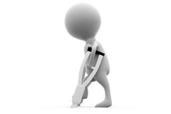 τρισδιάστατη σπασμένη άτομο έννοια ποδιών Στοκ φωτογραφία με δικαίωμα ελεύθερης χρήσης