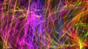 τρισδιάστατη συγκίνηση απεικόνισης της κίνησης στο διάστημα, την ενέργεια, τα χρώματα και τις μορφές Στοκ Εικόνες