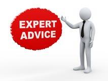 τρισδιάστατη συμβουλή από ειδήμονες επιχειρηματιών απεικόνιση αποθεμάτων