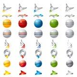 τρισδιάστατη συλλογή λογότυπων απεικόνιση αποθεμάτων