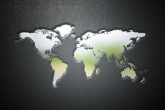 τρισδιάστατη σφραγίδα παγκόσμιων χαρτών στο δέρμα Στοκ εικόνα με δικαίωμα ελεύθερης χρήσης