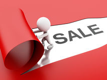τρισδιάστατη σχισμένη πώληση εγγράφου Στοκ φωτογραφία με δικαίωμα ελεύθερης χρήσης