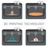 τρισδιάστατη τεχνολογία εκτύπωσης τρισδιάστατο σπίτι εκτύπωσης, οργανισμοί, πίτσα, πλαστικά πρότυπα τρισδιάστατος εκτυπωτής απεικόνιση αποθεμάτων