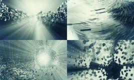 τρισδιάστατη τεχνολογί&alpha Στοκ Εικόνες