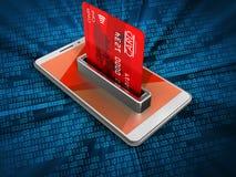 τρισδιάστατη τραπεζική κάρτα ελεύθερη απεικόνιση δικαιώματος