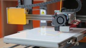 τρισδιάστατη τυπωμένη ύλη εκτυπωτών απόθεμα βίντεο