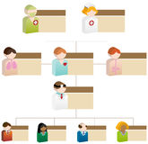 τρισδιάστατη υγειονομική περίθαλψη ποικιλομορφίας διαγραμμάτων οργανωτική Στοκ Εικόνα