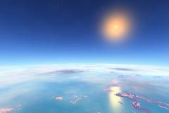 τρισδιάστατη φαντασία αλλοδαπός πλανήτης Στοκ φωτογραφία με δικαίωμα ελεύθερης χρήσης