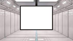 τρισδιάστατη φουτουριστική οθόνη Στοκ εικόνες με δικαίωμα ελεύθερης χρήσης