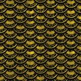 τρισδιάστατη χρυσή άνευ ραφής σύσταση κλιμάκων Στοκ φωτογραφία με δικαίωμα ελεύθερης χρήσης