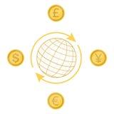 τρισδιάστατη όμορφη απεικόνιση τρία αριθμού ανταλλαγής νομίσματος διαστατική ευρο- πολύ διανυσματική απεικόνιση