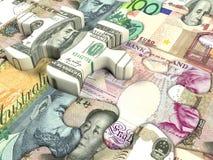 τρισδιάστατη όμορφη διαστατική απεικόνιση τρία νομίσματος πολύ κόσμος Στοκ φωτογραφία με δικαίωμα ελεύθερης χρήσης