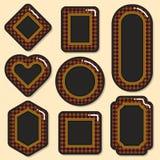 τρισδιάστατη όμορφη διαστατική απεικόνιση τρία πλαισίων αριθμού πολύ εκλεκτής ποιότητας Στοκ εικόνα με δικαίωμα ελεύθερης χρήσης