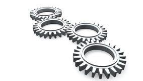 τρισδιάστατη Cogwheel κίνηση διανυσματική απεικόνιση