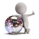 τρισδιάστατοι άνθρωποι disco σφαιρών μικροί Στοκ Εικόνες