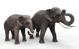 τρισδιάστατοι ελέφαντες Στοκ φωτογραφίες με δικαίωμα ελεύθερης χρήσης