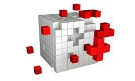 τρισδιάστατοι κύβοι Στοκ Εικόνες