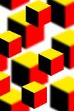 τρισδιάστατοι κύβοι Στοκ φωτογραφίες με δικαίωμα ελεύθερης χρήσης