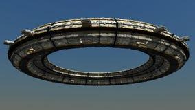 Scifi Ufo Στοκ φωτογραφία με δικαίωμα ελεύθερης χρήσης