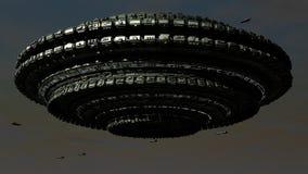 Scifi Ufo Στοκ Φωτογραφίες