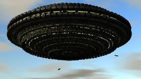 Scifi Ufo Στοκ Φωτογραφία