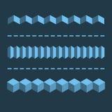 τρισδιάστατοι οριζόντιοι γραμμικοί διαιρέτες, σύνορα Γεωμετρικό επίπεδο σχέδιο Ε Στοκ φωτογραφίες με δικαίωμα ελεύθερης χρήσης