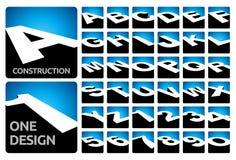 τρισδιάστατοι φραγμοί αλφάβητου Στοκ εικόνες με δικαίωμα ελεύθερης χρήσης
