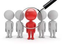 τρισδιάστατοι χαριτωμένοι άνθρωποι - αναζήτηση εργασίας διανυσματική απεικόνιση