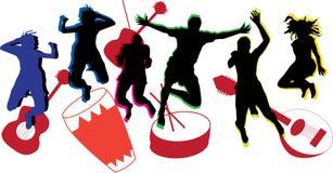 τρισδιάστατοι όμορφοι χορεύοντας διαστατικοί άνθρωποι τρία απεικόνισης πολύ Στοκ Φωτογραφία
