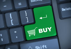 τρισδιάστατος αγοράστε την έννοια πληκτρολογίων Στοκ φωτογραφία με δικαίωμα ελεύθερης χρήσης