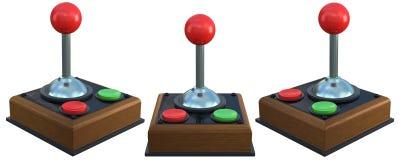 τρισδιάστατος αναδρομικός ελεγκτής παιχνιδιών διανυσματική απεικόνιση