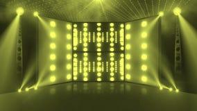 Τρισδιάστατος ανοικτό κίτρινο σκηνών συναυλίας πλήθους ελεύθερη απεικόνιση δικαιώματος