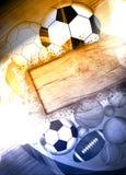 τρισδιάστατος απεικόνιση αθλητισμός σφαιρών ανασκόπησης Στοκ εικόνες με δικαίωμα ελεύθερης χρήσης