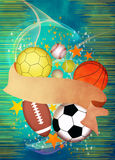 τρισδιάστατος απεικόνιση αθλητισμός σφαιρών ανασκόπησης Στοκ εικόνα με δικαίωμα ελεύθερης χρήσης