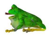 τρισδιάστατος βάτραχος κινούμενων σχεδίων Στοκ Εικόνες