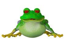τρισδιάστατος βάτραχος κινούμενων σχεδίων Στοκ φωτογραφία με δικαίωμα ελεύθερης χρήσης