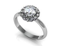 τρισδιάστατος γάμος δαχτυλιδιών ομορφιάς Στοκ Εικόνες
