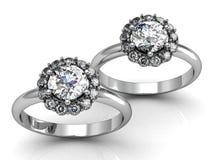 τρισδιάστατος γάμος δαχτυλιδιών ομορφιάς Στοκ φωτογραφία με δικαίωμα ελεύθερης χρήσης