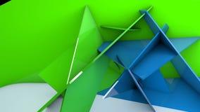 τρισδιάστατος γεωμετρικός μετασχηματισμός τοίχων απεικόνιση αποθεμάτων