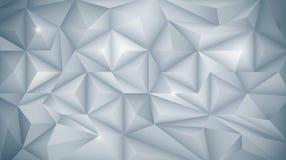 τρισδιάστατος γεωμετρικός, πολύγωνο, μορφή σχεδίων τριγώνων διανυσματική απεικόνιση