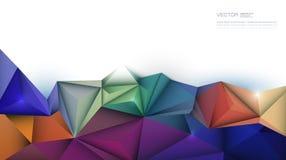 τρισδιάστατος γεωμετρικός, πολύγωνο, μορφή σχεδίων τριγώνων ελεύθερη απεικόνιση δικαιώματος