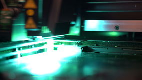 τρισδιάστατος εκτυπωτής κατά τη διάρκεια της λειτουργίας εκτύπωσης απόθεμα βίντεο