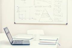 τρισδιάστατος εργασιακός χώρος γραφείων εικόνας απεικονίσεων Στοκ Εικόνες