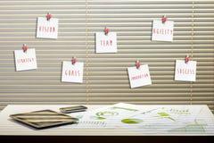 τρισδιάστατος εργασιακός χώρος γραφείων εικόνας απεικονίσεων Στοκ φωτογραφία με δικαίωμα ελεύθερης χρήσης