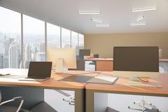 τρισδιάστατος εργασιακός χώρος γραφείων εικόνας απεικονίσεων Στοκ φωτογραφίες με δικαίωμα ελεύθερης χρήσης