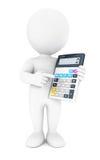 τρισδιάστατος λευκός λογιστής ανθρώπων Στοκ εικόνα με δικαίωμα ελεύθερης χρήσης